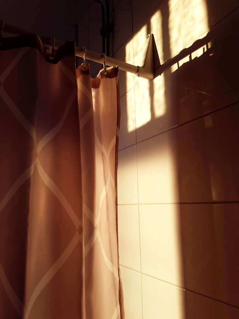 Shower Curtain in Sunlight