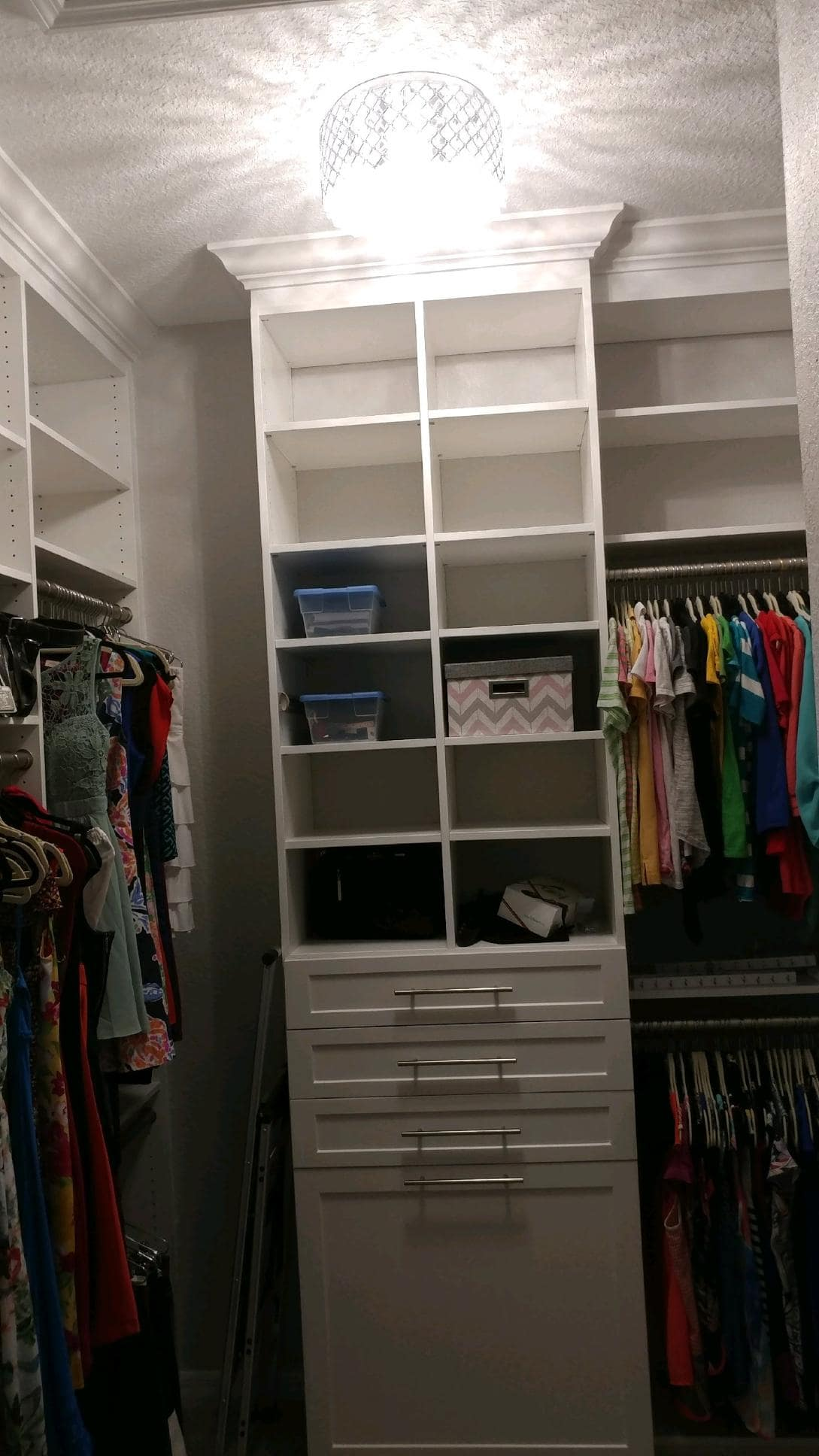 Custom Closet Floor Mounted with light