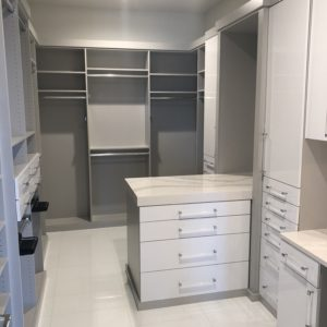 Custom Closet with the white tile