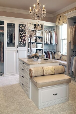 Custom Closet with an Island setup