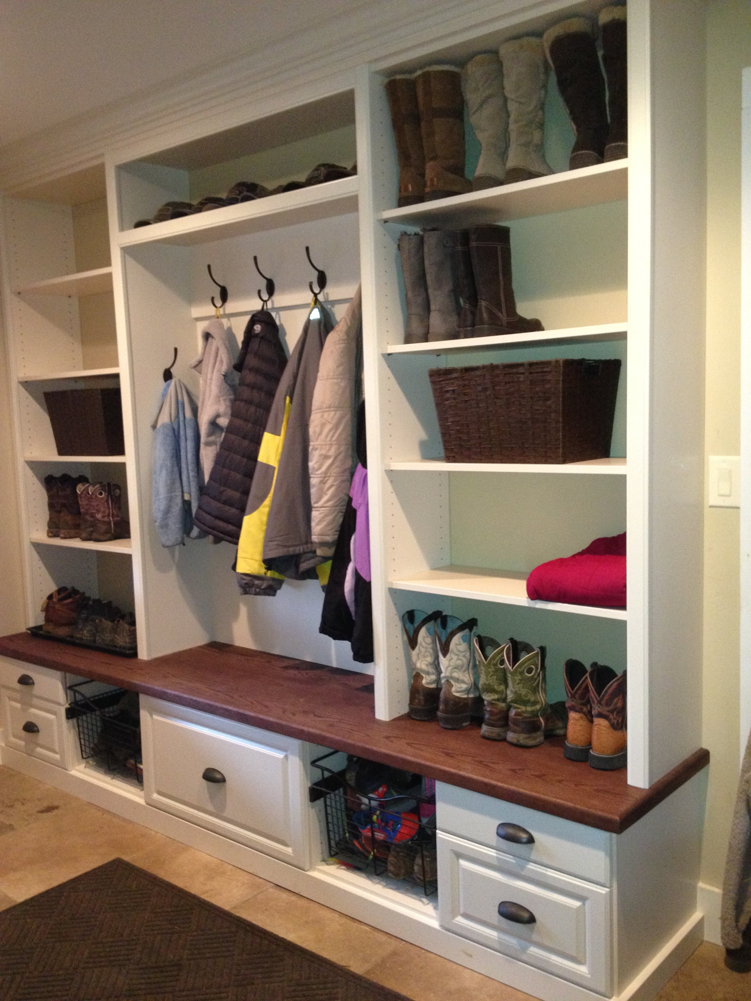 Mud Room with coats
