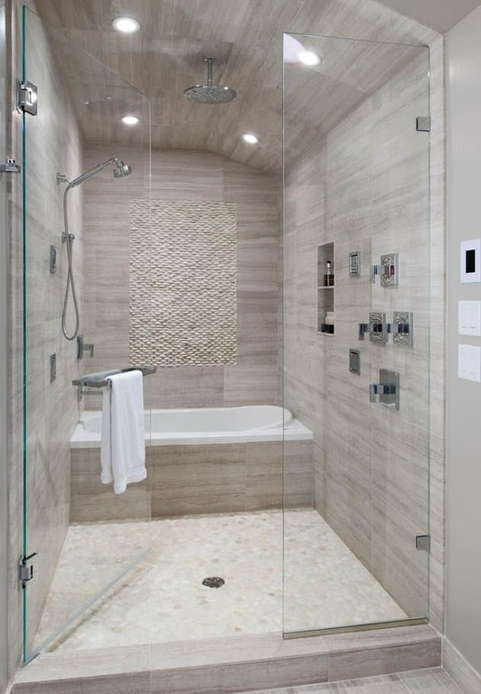Custom Shower with Double Doors