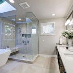 Custom Shower with skylight
