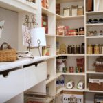 Custom Pantry that is filled and decorated