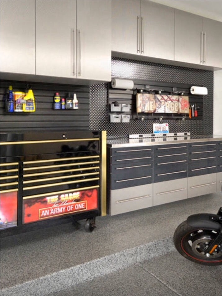 Custom Garage with tools
