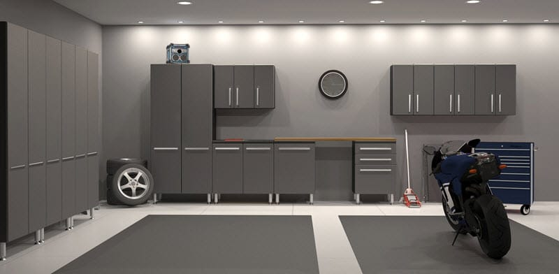 custom garage storage design