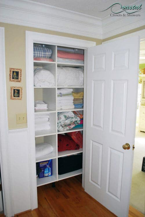 Linen Closet with white