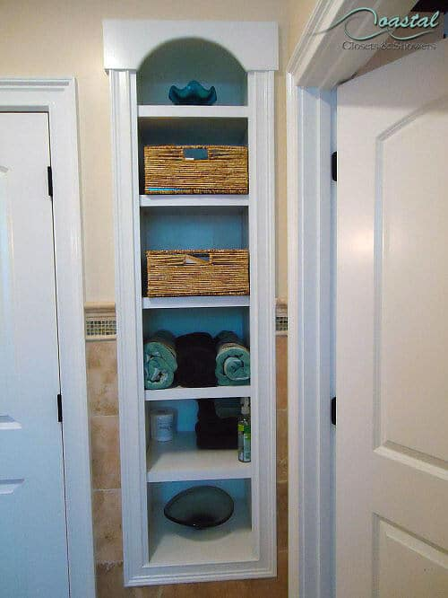 Custom Linen Closet with towels