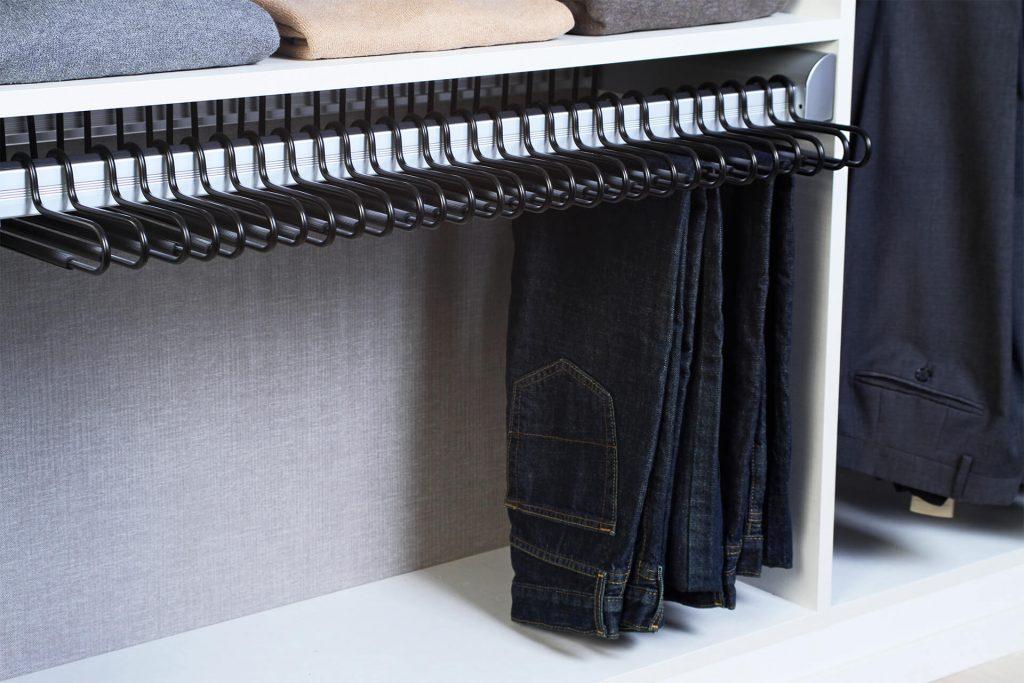 Hangers In A Custom Closet