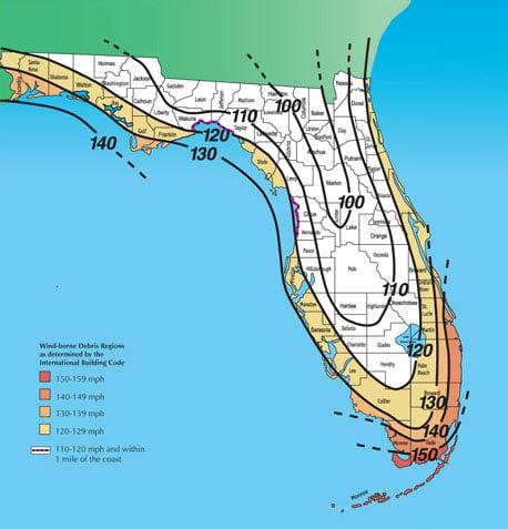 wind zone map - stuart impact windows