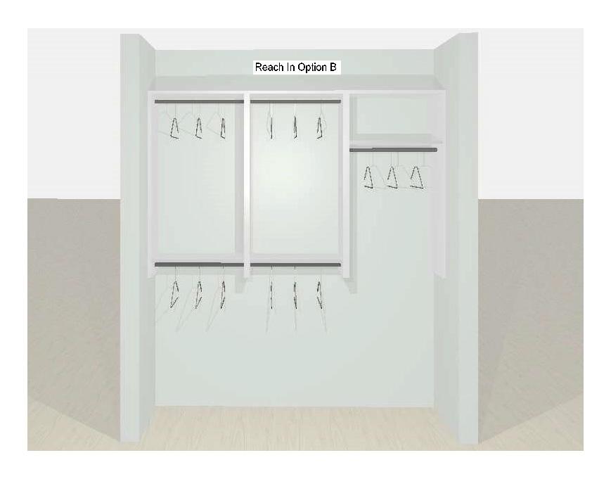 Reach-In Closet Designs Option B