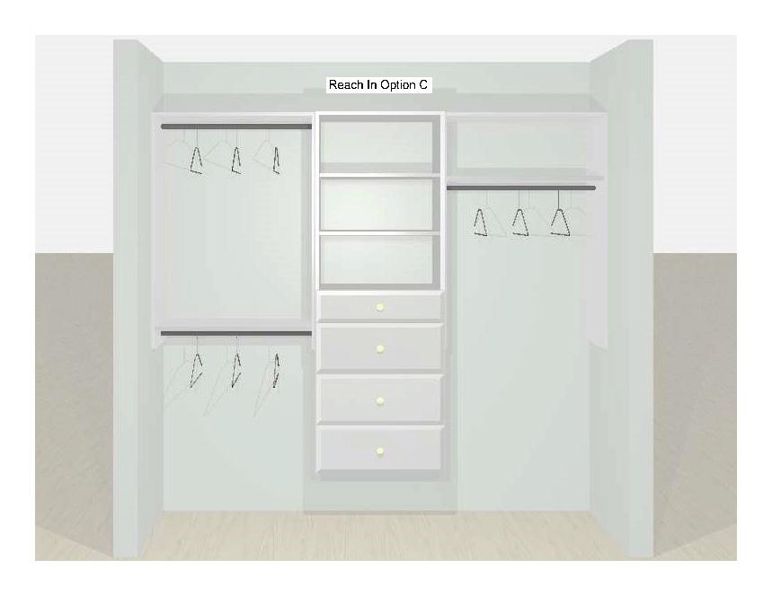 Reach-In Closet Designs Option C