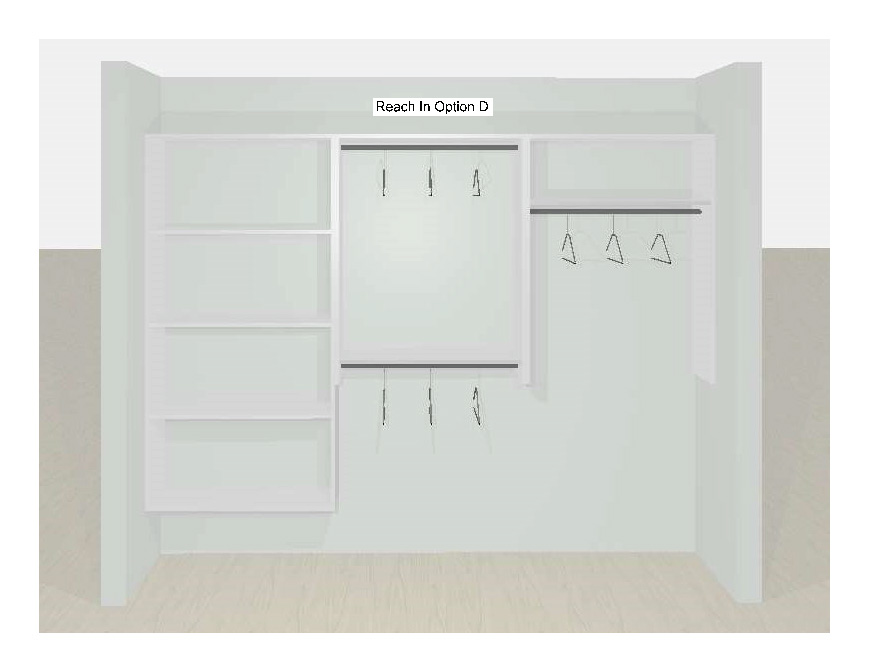 Reach-In Closet Designs Option D