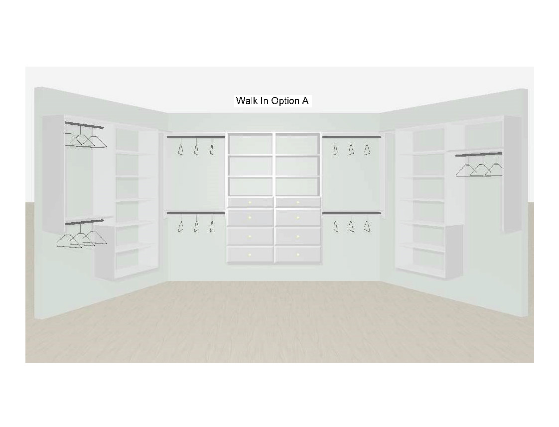 Walk-In Closet Designs Option A