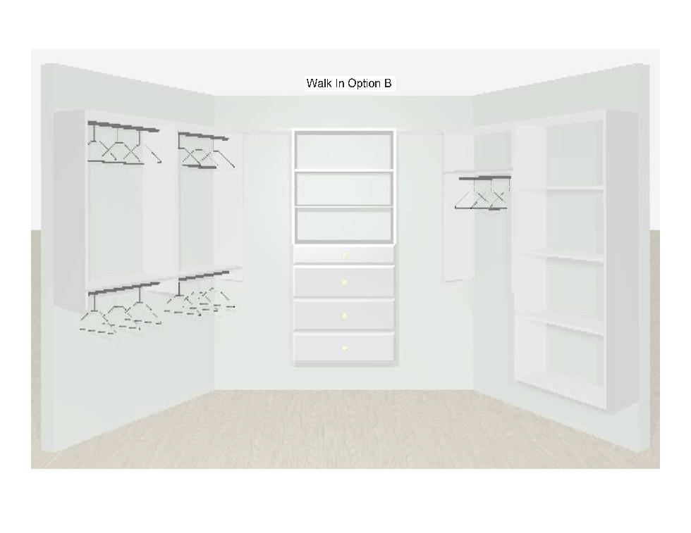 Walk In Closet Designs Option B