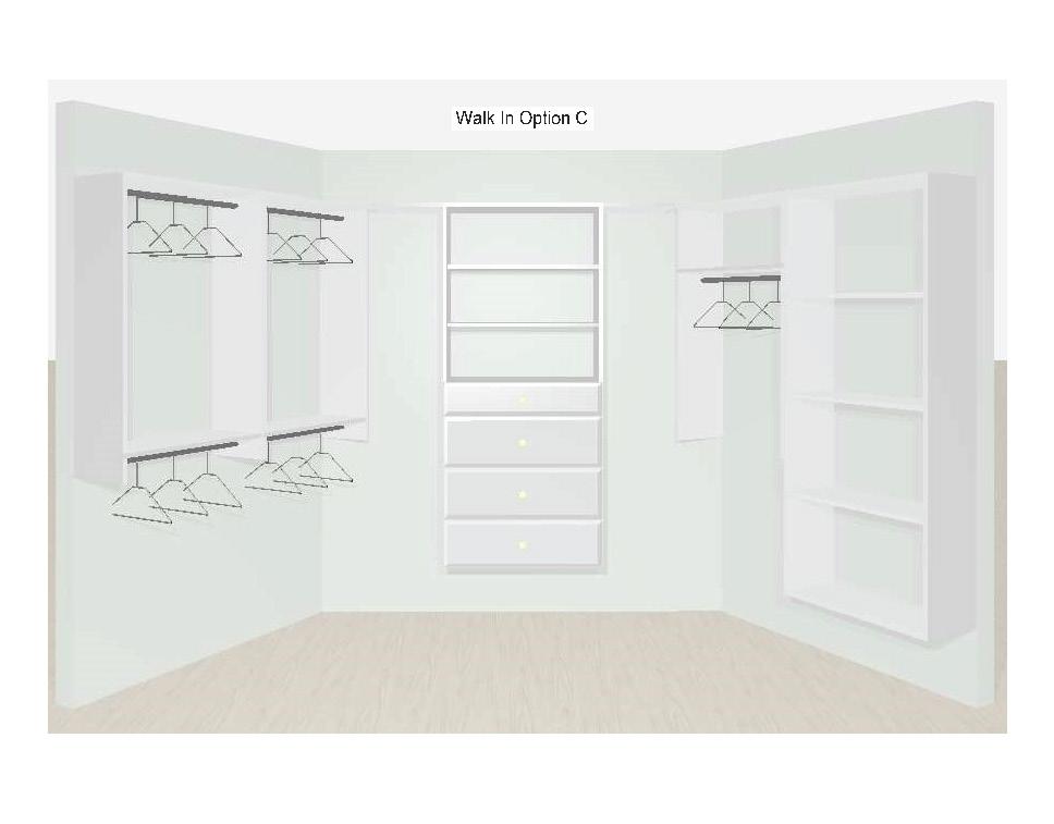 Walk In Closet Designs Option C