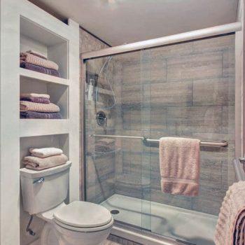 custom semi frameless shower