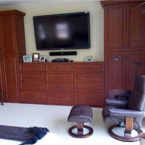 Custom Wall Unit made with wood
